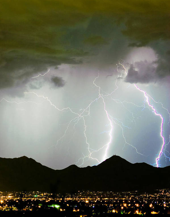 Lightning Art Print featuring the photograph Midnight Hour by James BO Insogna