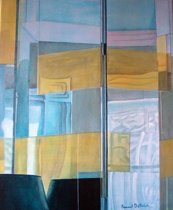 Miroir Art Print featuring the painting Miroir by Muriel Dolemieux