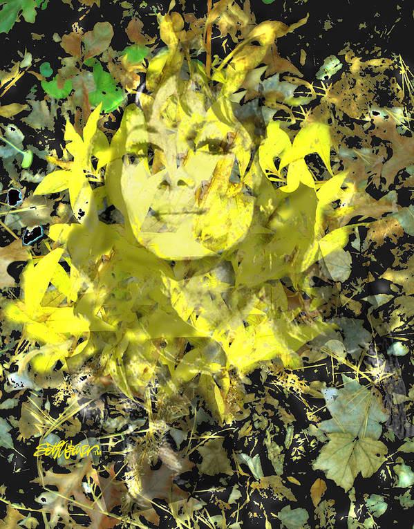 Mistress Of Autumn Art Print featuring the digital art Mistress of Autumn by Seth Weaver
