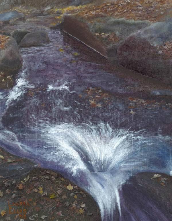 Landscape Art Print featuring the painting Mountain Brook by Laurel Ellis