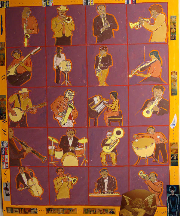 Art Print featuring the painting Musicians fully colored by Biagio Civale