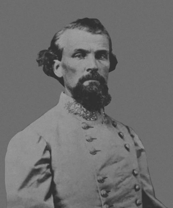 Nathan Bedford Forrest Art Print featuring the painting Nathan Bedford Forrest by War Is Hell Store