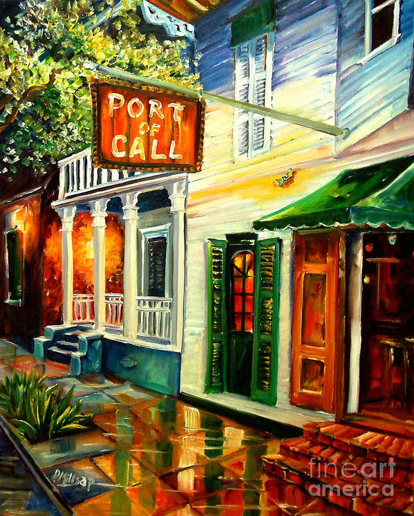 New Orleans Art Print featuring the painting New Orleans Port of Call by Diane Millsap