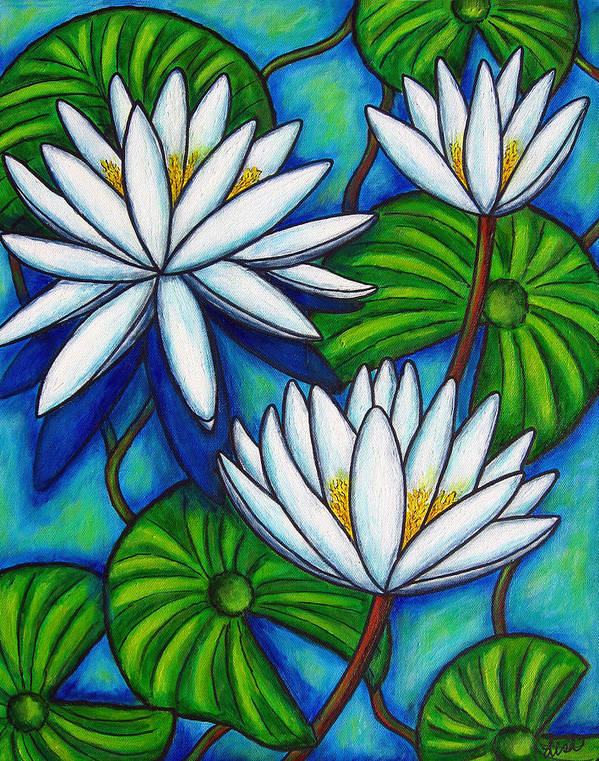 Lily Art Print featuring the painting Nymphaea Blue by Lisa Lorenz