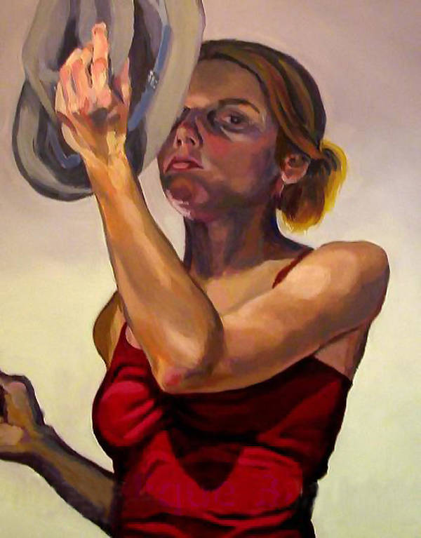 Portraits Art Print featuring the painting Oh How the Tables have Turned by Angelique Bowman