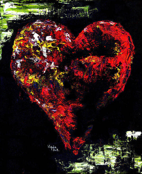Heart Art Print featuring the painting Passion by Hiroko Sakai