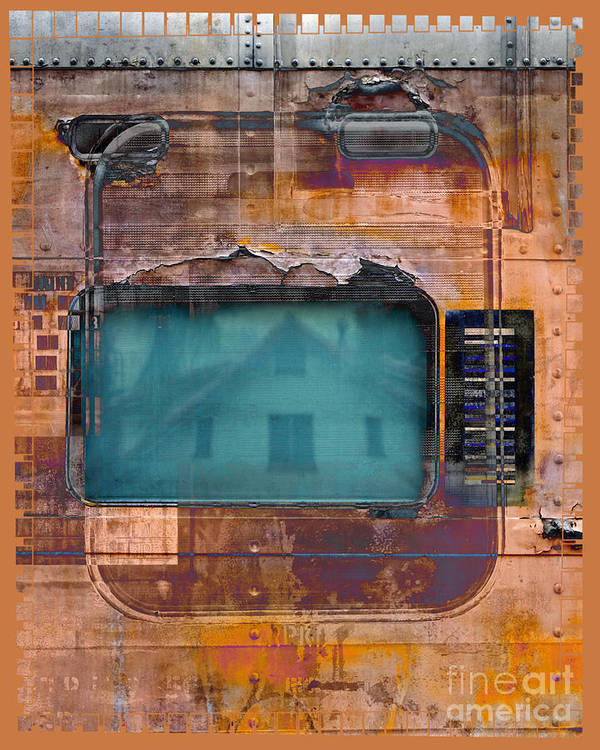 Train Art Print featuring the digital art Pullman Reflections by Chuck Brittenham