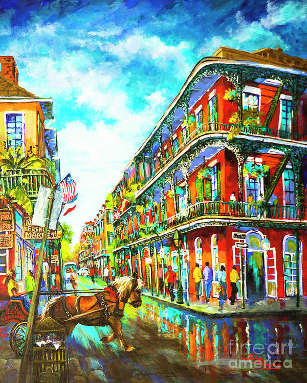 New Orleans Art Art Print featuring the painting Royal Carriage - New Orleans French Quarter by Dianne Parks