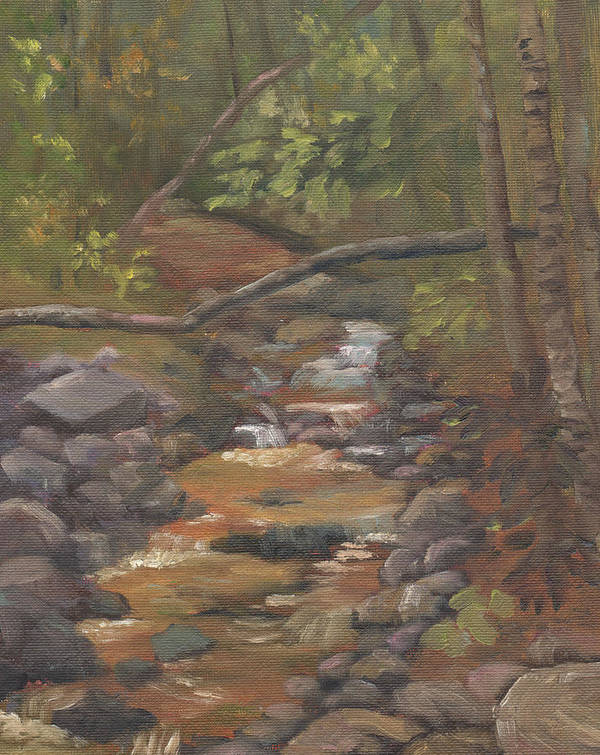Waterfall Art Print featuring the painting Spring on the Gale River by Sharon E Allen