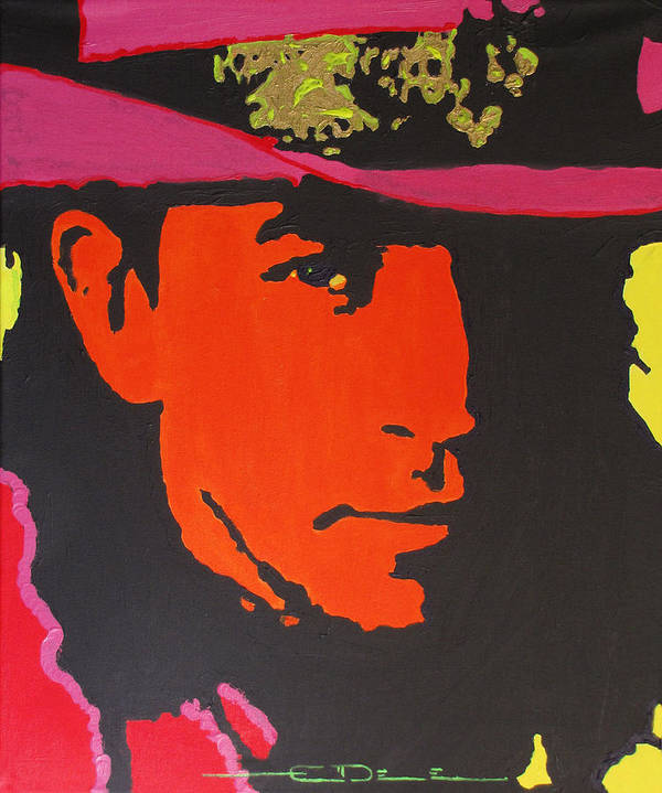 Stevie Ray Vaughan Art Print featuring the painting Stevie Ray Vaughan by Eric Dee