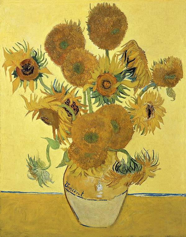 Sunflowers Art Print featuring the painting Sunflowers, 1888 by Vincent Van Gogh