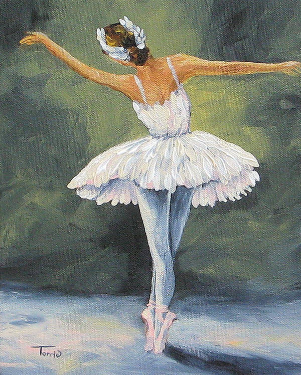 Ballerina Art Print featuring the painting The Ballerina II  by Torrie Smiley