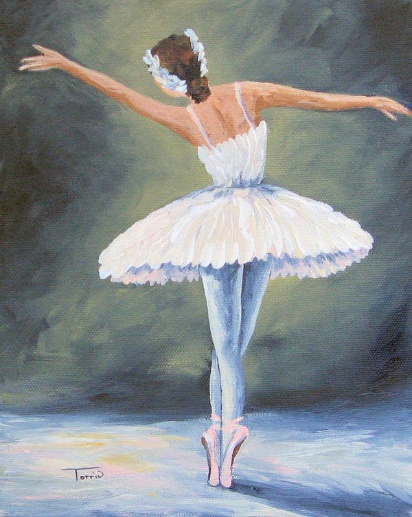 Ballet Art Print featuring the painting The Ballerina III by Torrie Smiley