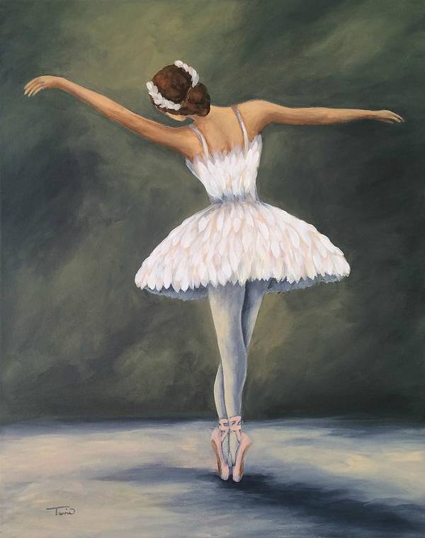 Ballet Art Print featuring the painting The Ballerina V by Torrie Smiley