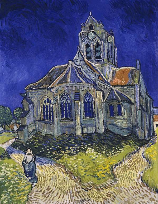 Vincent Van Gogh Art Print featuring the painting The Church At Auvers by Van Gogh
