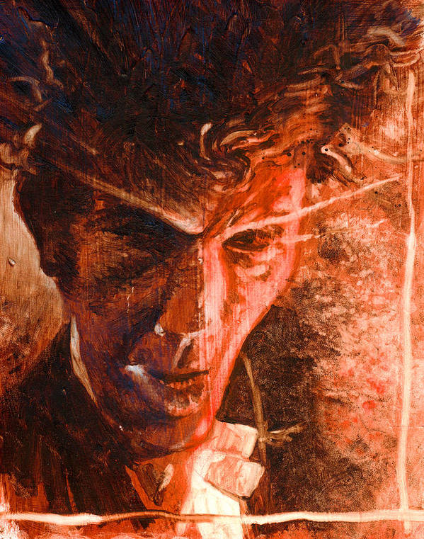 Tom Waits Art Print featuring the painting The Devil Waits by Ken Meyer jr