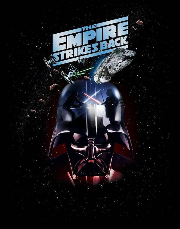 Star Wars The Empire Strikes Back Classic Movie Large Wall Art Poster Print
