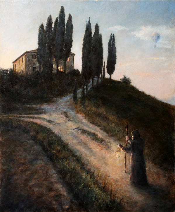 Tree Art Print featuring the painting The Light of a New Dawn by Darko Topalski