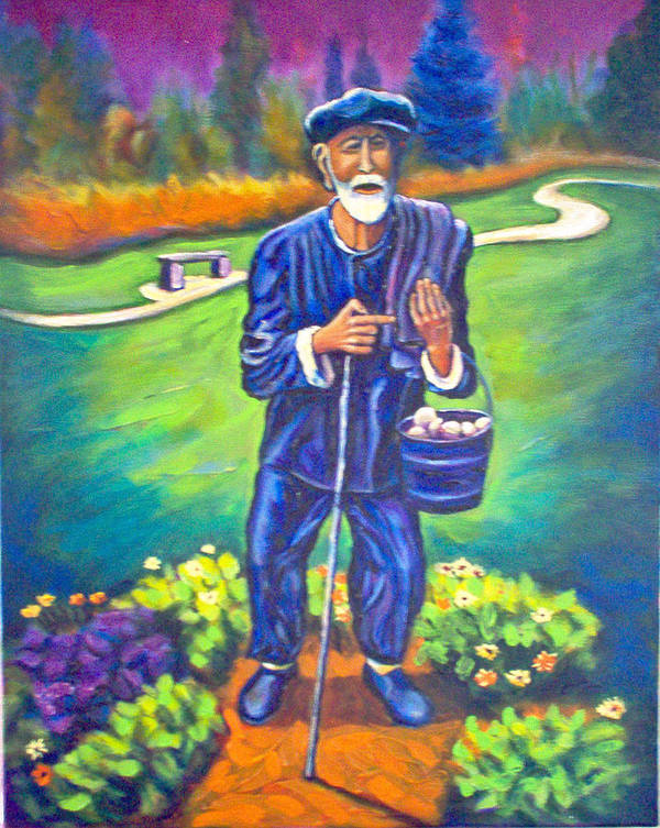 Art Print featuring the painting The Potato Man by Steve Lawton