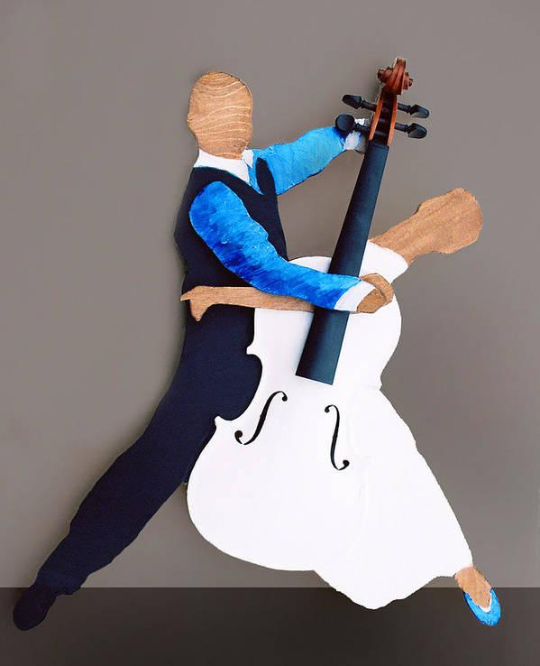 Dance Art Print featuring the sculpture The Waltz by Steve Karol