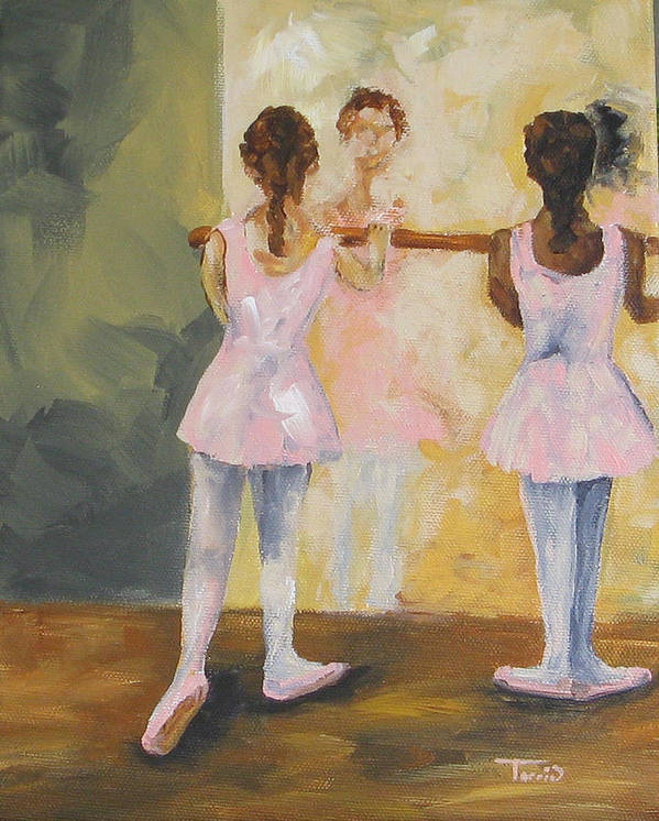 Dancer Art Print featuring the painting Tiny Dancers by Torrie Smiley