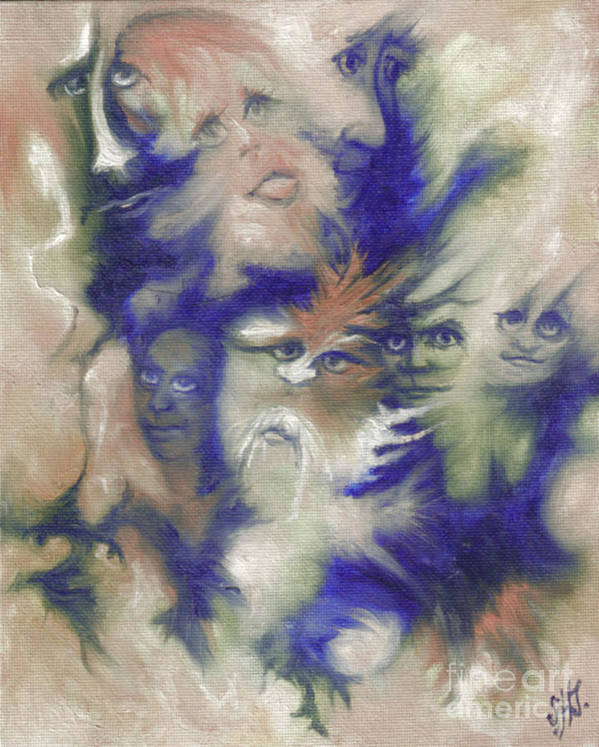 Mystical Art Print featuring the painting Wizard's Dream by Stephanie H Johnson