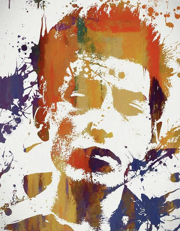Young Bob Dylan Art Print featuring the painting Young Bob Dylan by Dan Sproul