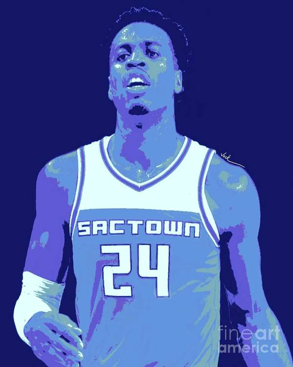 Hield Art Print featuring the painting Buddy Hield by Jack Bunds