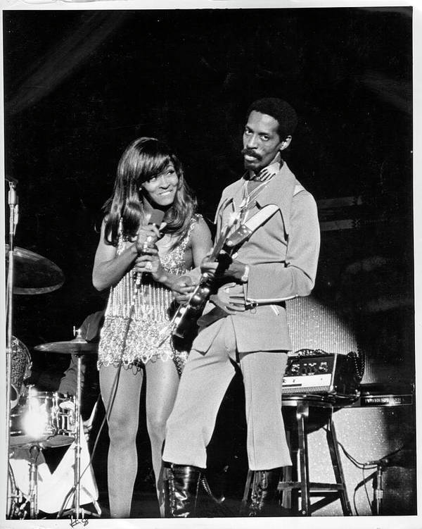 Music Art Print featuring the photograph Ike & Tina At The Greek by Michael Ochs Archives