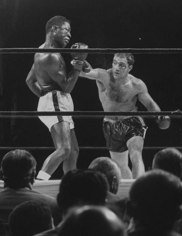 Timeincown Art Print featuring the photograph Rocky Marcianoezzard Charles by Ralph Morse