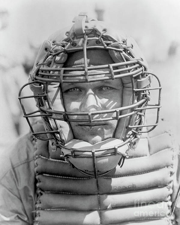 Baseball Catcher Art Print featuring the photograph National Baseball Hall Of Fame Library by National Baseball Hall Of Fame Library