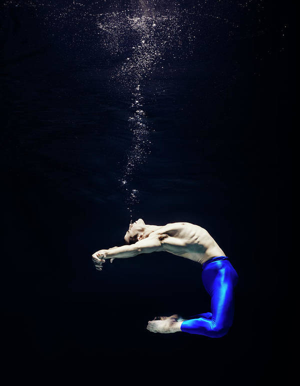Ballet Dancer Art Print featuring the photograph Ballet Dancer Underwater by Henrik Sorensen