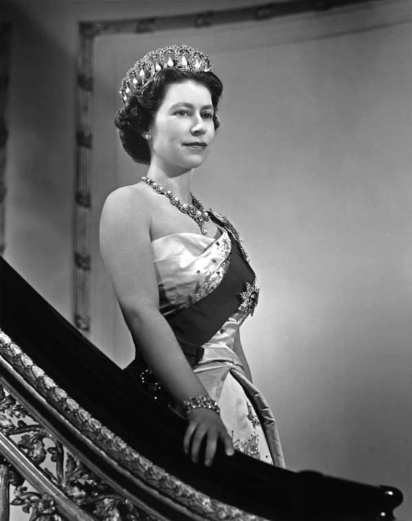 1950-1959 Art Print featuring the photograph Queen Elizabeth II Portrait by Michael Ochs Archives