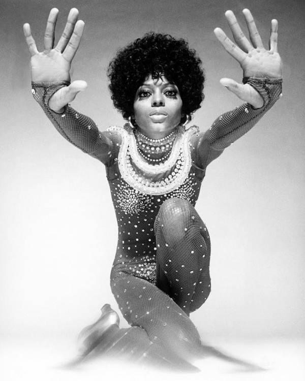 Event Art Print featuring the photograph Diana Ross Portrait Session by Harry Langdon
