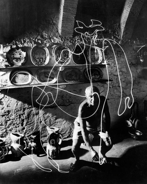 Pablo Picasso Art Print featuring the photograph Pablo Picassopablo Picasso Misc by Gjon Mili