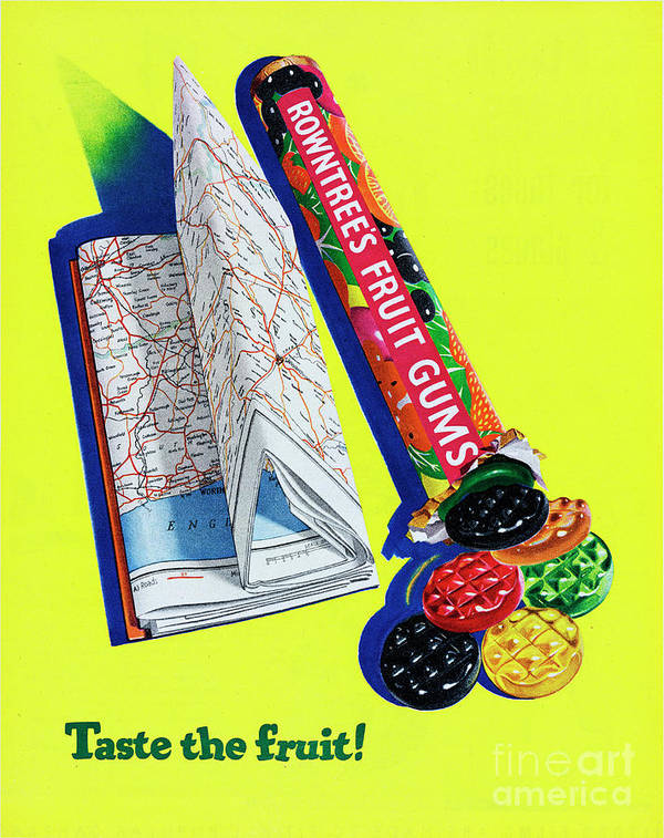 1950-1959 Art Print featuring the photograph Rowntrees Fruit Gums by Picture Post