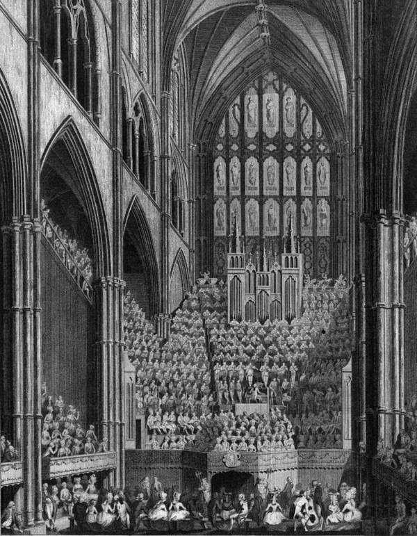 Arch Art Print featuring the digital art Cathedral Orchestra by Hulton Archive