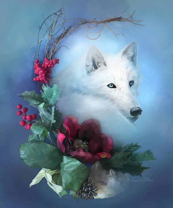 Crescent Wild Winter Solstice Art Print featuring the painting Crescent Wild Winter Solstice by Art And A Little Magic