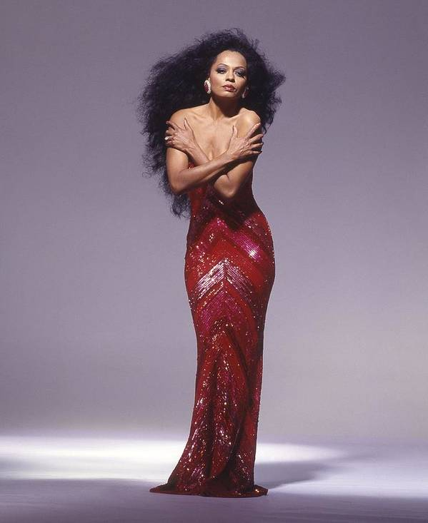 Singer Art Print featuring the photograph Diana Ross Portrait Session by Harry Langdon