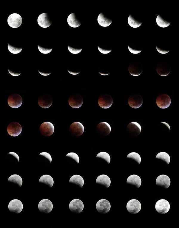 Event Art Print featuring the photograph Eclipse, In All Phases Of The Moon by Arturogi