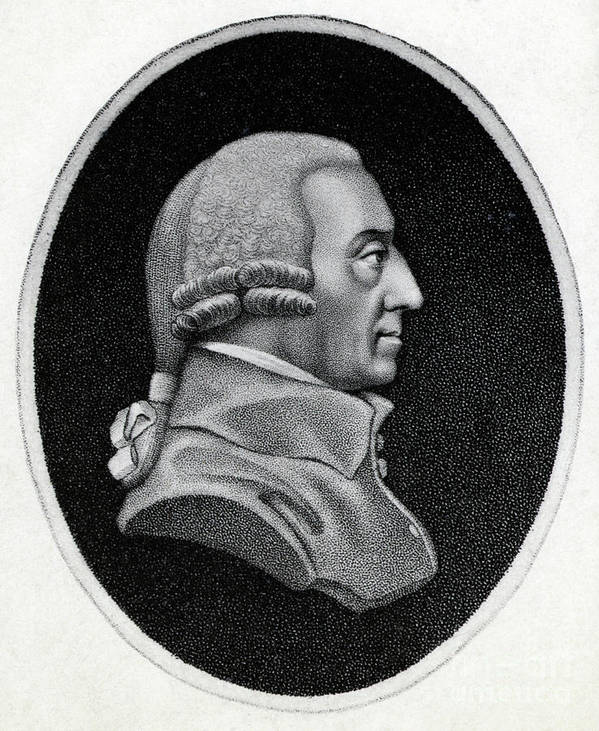 Engraving Art Print featuring the photograph Engraving Of Economist Adam Smith by Bettmann