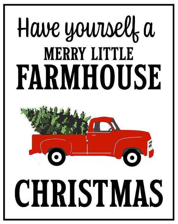 Art Art Print featuring the drawing Farmhouse Christmas by Kieth Ward