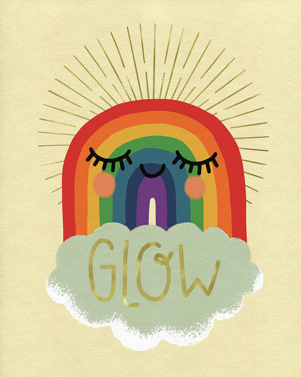 Art Art Print featuring the drawing Glow by Curtis