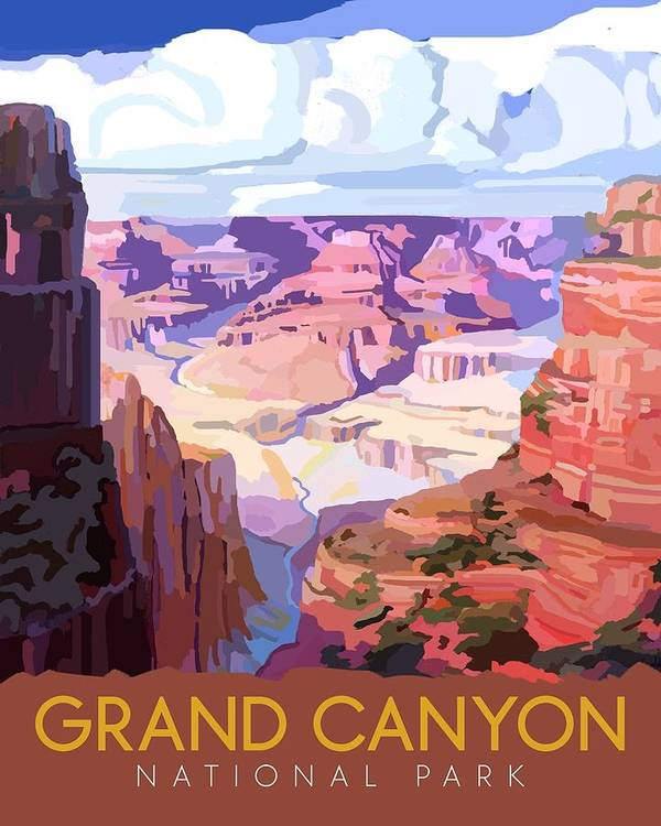 Art Art Print featuring the drawing Grand Canyon National Park by Unknown