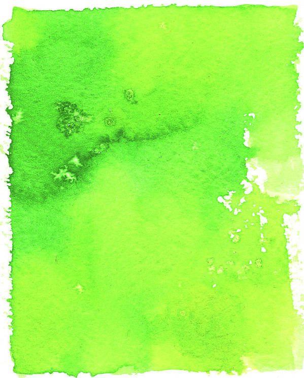 Watercolor Painting Art Print featuring the digital art Green Background Spring Blend by Taice