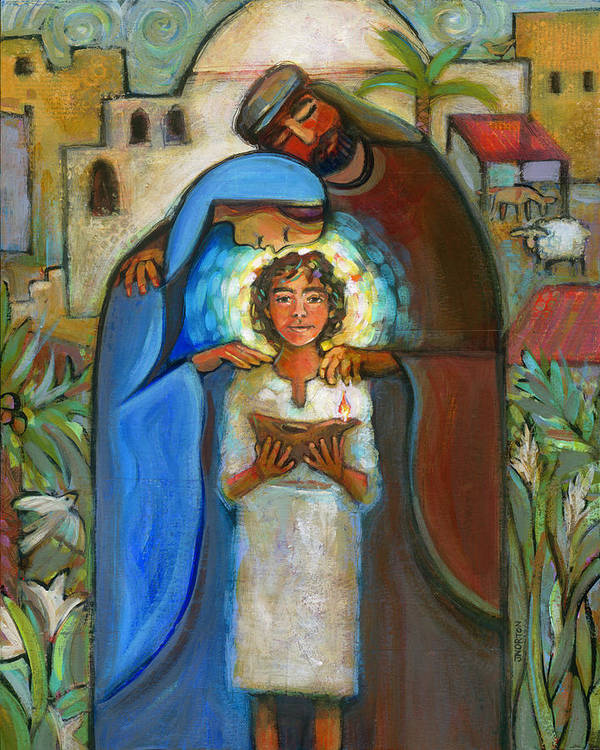 Jen Norton Art Print featuring the painting Holy Family by Jen Norton