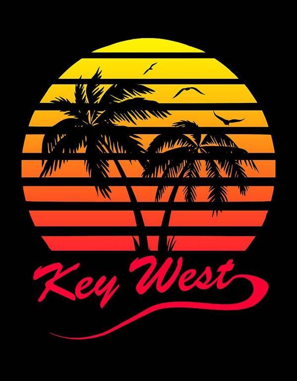 Key Art Print featuring the digital art Key West by Filip Schpindel