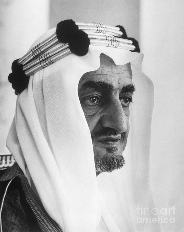 People Art Print featuring the photograph King Faisal by Bettmann
