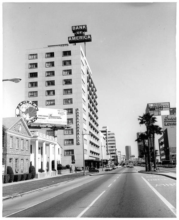 East Art Print featuring the photograph Looking East On Wilshire Boulevard by American Stock Archive
