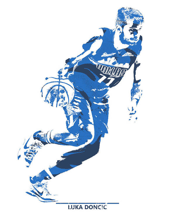 Luka Doncic Dallas Mavericks Pixel Art 2 Art Print By Joe Hamilton